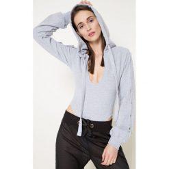 Missguided by Jordan Dunn - Body. Szare bluzki body marki Missguided, z bawełny. W wyprzedaży za 79,90 zł.