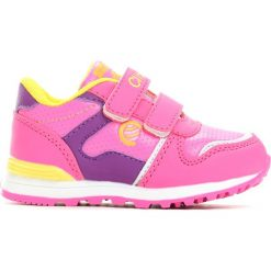 Różowe Buty Sportowe Orphean. Czerwone buty sportowe dziewczęce Born2be, ze skóry, z okrągłym noskiem, na rzepy. Za 59,99 zł.