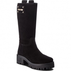 Kozaki LOVE MOSCHINO - JA24206H06JF0000 Nero. Czarne buty zimowe damskie Love Moschino, ze skóry, przed kolano, na wysokim obcasie. Za 1349,00 zł.