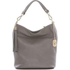 Torebki klasyczne damskie: Skórzana torebka w kolorze szarym – 26 x 28 x 12 cm