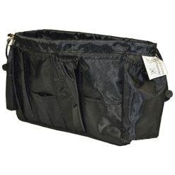 Zestaw organizerów w kolorze czarnym - 2 szt. Czarne torebki klasyczne damskie Jocca, z materiału. W wyprzedaży za 34,95 zł.