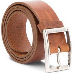 Pasek Męski JOOP! - JEANS 7509 85 55. Brązowe paski męskie marki JOOP!, w paski, z jeansu. W wyprzedaży za 279,00 zł.
