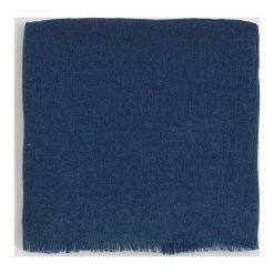 Mango Man - Szalik Basico. Niebieskie szaliki męskie Mango Man, z dzianiny. W wyprzedaży za 49,90 zł.