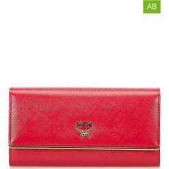 Portfele damskie: Skórzany portfel w kolorze czerwonym – 18 x 9 x 2 cm