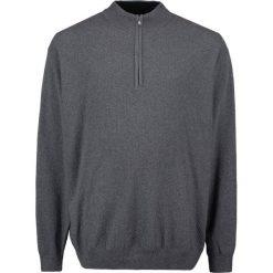 Swetry rozpinane męskie: Jacamo ZIP NECK PLUS Kardigan charcoal