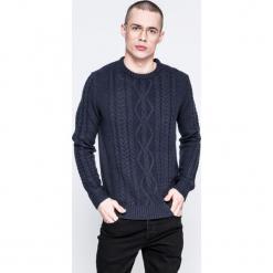 Jack & Jones - Sweter. Czarne swetry klasyczne męskie marki Jack & Jones, l, z bawełny, z okrągłym kołnierzem. W wyprzedaży za 79,90 zł.