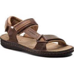 Sandały męskie skórzane: Sandały LASOCKI FOR MEN – MI18-1-28-381 Brązowy Ciemny