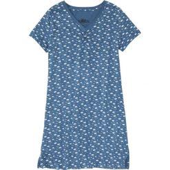 Koszula nocna bonprix niebieski dżins z nadrukiem. Niebieskie koszule nocne i halki bonprix, z nadrukiem. Za 29,99 zł.