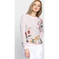 Bluzy damskie: Różowa Bluza Leisure Time