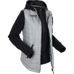 Kamizelka outdoorowa 3 w 1 z wyjmowaną bluzą z polaru bonprix szary. Szare bluzy polarowe bonprix. Za 239,99 zł.