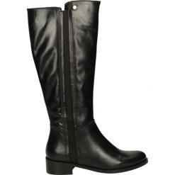 Kozaki - ESTER1789 BLA. Czarne buty zimowe damskie Venezia, ze skóry. Za 269,00 zł.