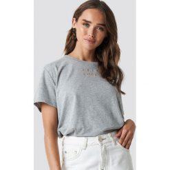 T-shirty damskie: NA-KD Trend T-shirt oversize Loudly - Grey