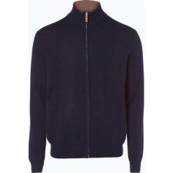 Andrew James - Kardigan męski z czystego kaszmiru, niebieski. Niebieskie swetry rozpinane męskie Andrew James, m, z kaszmiru, eleganckie, z klasycznym kołnierzykiem. Za 749,95 zł.