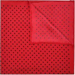 Poszetka Czerwona w Kropki. Czerwone poszetki męskie LANCERTO, w kropki, z jedwabiu, klasyczne. Za 99,90 zł.