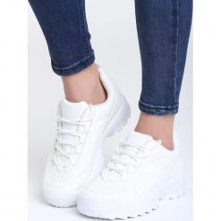 Białe Sneakersy Get This. Białe sneakersy damskie vices, z materiału. Za 89,99 zł.