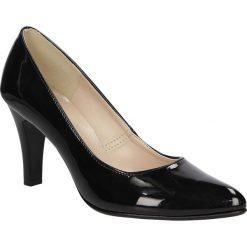 Czółenka lakierowane na słupku Casu 1693. Czarne buty ślubne damskie Casu, z lakierowanej skóry, na słupku. Za 89,99 zł.