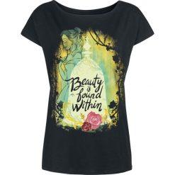 Piękna i Bestia Beauty Is Found Within Koszulka damska czarny. Czarne bluzki nietoperze Piękna i Bestia, s, z nadrukiem, z dekoltem w łódkę. Za 79,90 zł.