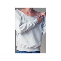 Szara bluza dla karmiących matek. Szare bluzy z nadrukiem damskie One mug a day, s, z bawełny. Za 119,00 zł.
