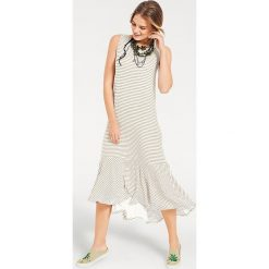 Odzież damska: Sukienka w kolorze biało-brązowym
