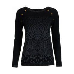 Desigual Sweter Damski Gaea S Czarny. Szare swetry klasyczne damskie marki Desigual, l, z tkaniny, casualowe, z długim rękawem. W wyprzedaży za 179,00 zł.