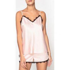 Piżamy damskie: Koronkowa piżama z szortami
