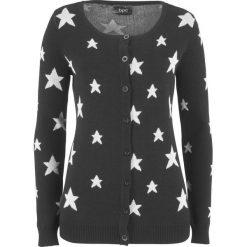Sweter rozpinany w gwiazdy bonprix czarno-kremowy. Białe kardigany damskie marki Reserved, l. Za 37,99 zł.
