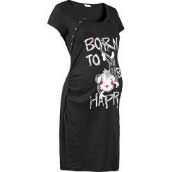 Koszula nocna ciążowa i do karmienia bonprix czarny. Czarne bielizna ciążowa bonprix, z bawełny, moda ciążowa. Za 44,99 zł.