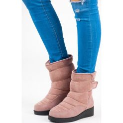 ŚNIEGOWCE NA RZEP. Czerwone buty zimowe damskie SEASTAR. Za 81,90 zł.