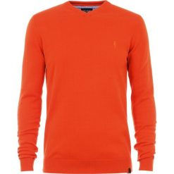 Sweter męski. Czerwone swetry klasyczne męskie Ochnik, m, z bawełny, z klasycznym kołnierzykiem. Za 99,90 zł.