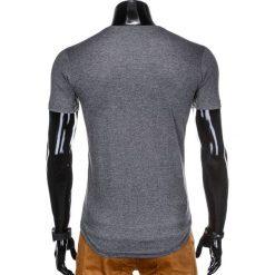 T-SHIRT MĘSKI Z NADRUKIEM S929 - GRAFITOWY. Szare t-shirty męskie z nadrukiem Ombre Clothing, m. Za 29,00 zł.
