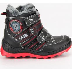 ZIMOWE OBUWIE NA RZEPY AMERICAN. Czarne buciki niemowlęce American CLUB, na zimę, na rzepy. Za 129,90 zł.