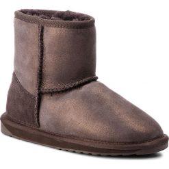 Buty EMU AUSTRALIA - Stinger Metallic Mini W11378 Chocolate. Brązowe buty zimowe damskie EMU Australia, ze skóry, na niskim obcasie. Za 649,00 zł.