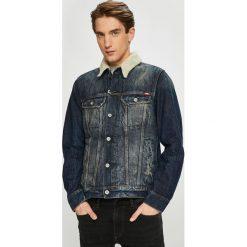 Mustang - Kurtka. Czarne kurtki męskie jeansowe marki Mustang, l, z kapturem. Za 459,90 zł.