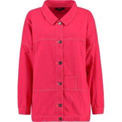 Bomberki damskie: Daisy Street Plus LONG OVERSIZED Kurtka jeansowa pink