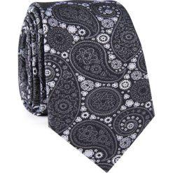 Krawat jedwabny KWSR000315. Białe krawaty męskie Giacomo Conti, z jedwabiu, eleganckie. Za 129,00 zł.