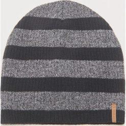 Czapka w paski - Czarny. Czarne czapki zimowe męskie marki House, w paski. Za 29,99 zł.