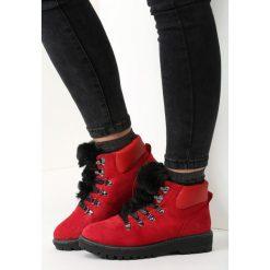 Czerwone Traperki Stand By Designer. Czerwone buty zimowe damskie marki vices. Za 99,99 zł.
