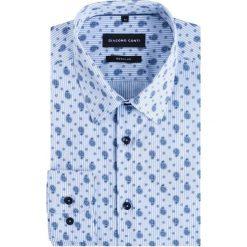 Koszula SIMONE KDWR000228. Niebieskie koszule męskie na spinki Giacomo Conti, m, paisley, z bawełny, z klasycznym kołnierzykiem. Za 199,00 zł.