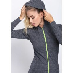 Szaro-Zielona Bluza Dresowa Be Stronger. Czarne bluzy rozpinane damskie marki bonprix, z dresówki, z kapturem, z długim rękawem, długie, maxi. Za 59,99 zł.