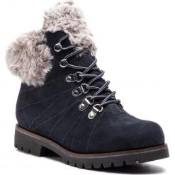 Trapery CAPRICE - 9-26217-21 Ocean Suede 857. Niebieskie buty zimowe damskie Caprice, z materiału. W wyprzedaży za 239,00 zł.