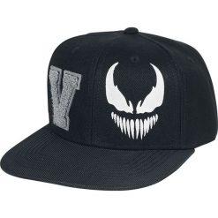 Venom (Marvel) V-Logo Czapka Snapback czarny. Czarne czapki z daszkiem damskie Venom (Marvel), z aplikacjami, z tworzywa sztucznego. Za 79,90 zł.