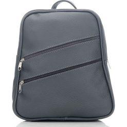ALENA Skórzany plecak damski Szary. Czarne plecaki damskie marki Abruzzo, ze skóry. Za 129,90 zł.