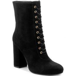 Botki TWINSET - Tronchetto CA7PA5 Nero 00006. Czarne buty zimowe damskie Twinset, ze skóry, na obcasie. W wyprzedaży za 769,00 zł.