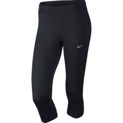 Legginsy do biegania damskie 3/4 NIKE DRI-FIT ESSENTIAL CAPRI / 645603-010 - NIKE DRI-FIT ESSENTIAL CAPRI. Czarne legginsy sportowe damskie Nike. Za 79,00 zł.