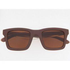 Okulary przeciwsłoneczne ReDesign - Brązowy. Brązowe okulary przeciwsłoneczne męskie wayfarery Reserved. Za 49,99 zł.