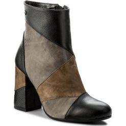 Buty zimowe damskie: Botki MACCIONI - 579 Brązowy
