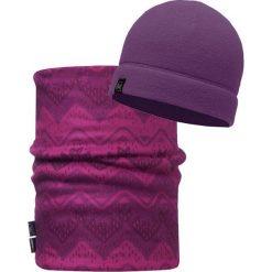 Czapki męskie: Buff Zestaw Buff Czapka Polarowa + Reversible Polar Neckwarmer Darlene Purple kolor fioletowy, dla dorosłych (BUF116128.605.10.00)