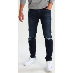 Jeansy męskie regular: Hollister Co. Jeansy Straight Leg dark destroy