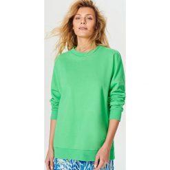 Bluzy damskie: Długa bluza oversize – Zielony