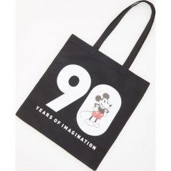 Torba Mickey Mouse - Czarny. Czarne torebki klasyczne damskie marki Kazar, w paski, ze skóry, zdobione. Za 29,99 zł.